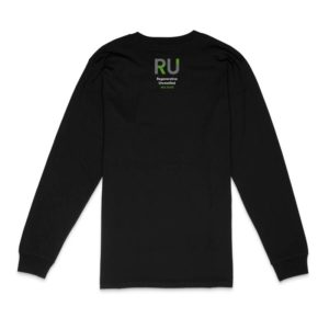Black Long Sleeve Tshirt - Back Design