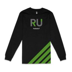 Black Long Sleeve Tshirt - Front Design