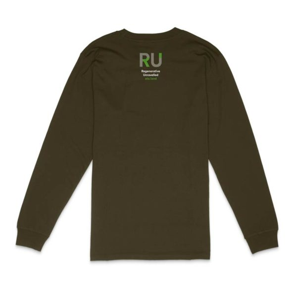 Green Long Sleeve Tshirt - Back Design