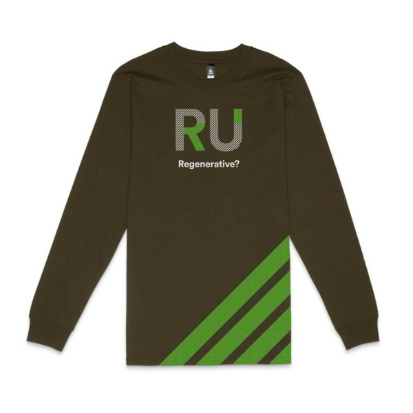 Green Long Sleeve Tshirt - Front Design