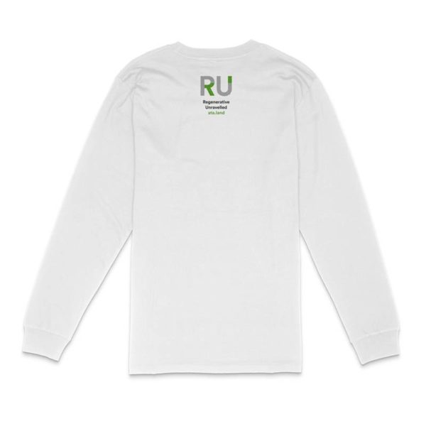 White Long Sleeve Tshirt - Back Design