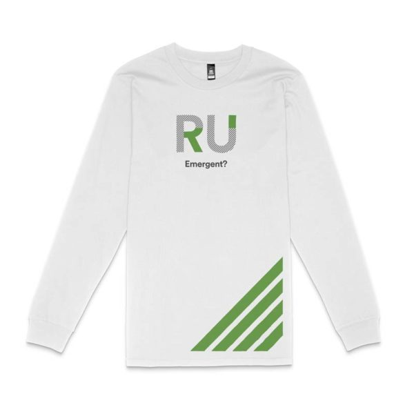 White Long Sleeve Tshirt - Front Design