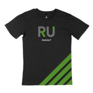 Black Men's Tshirt - Front Design: RU Holistic?