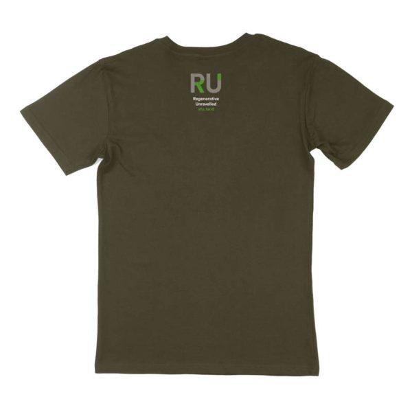 Green Men's Tshirt - Back Design